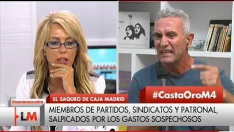 Cañamero pierde los nervios en televisión al ser preguntado por la denuncia del SAT de Almería