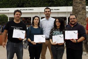 Estefanía Álvarez y Ana Rodríguez ganan el concurso de Microrrelatos Improvisados de la Feria del Libro
