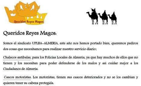 La Policía Local de Almería pide a los Reyes Magos chalecos antibala y cascos de motorista