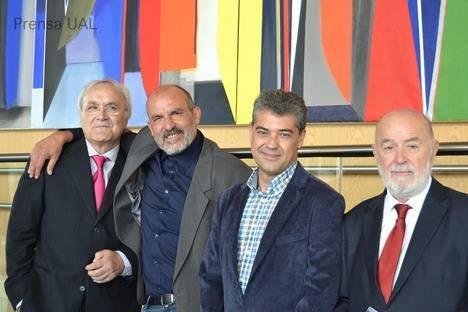 Inauguración de los murales del Paraninfo, monumental obra abstracta del pintor Jesús de Haro