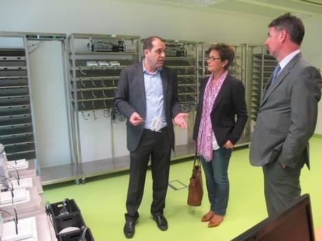 El secretario general de Innovación visita la empresa Atlantis Global System en el PITA