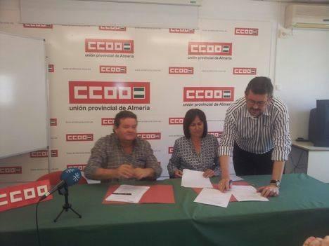 Esteban anuncia planes de empleo cuatrienales en la capital si IU gobierna en el Ayuntamiento de Almería
