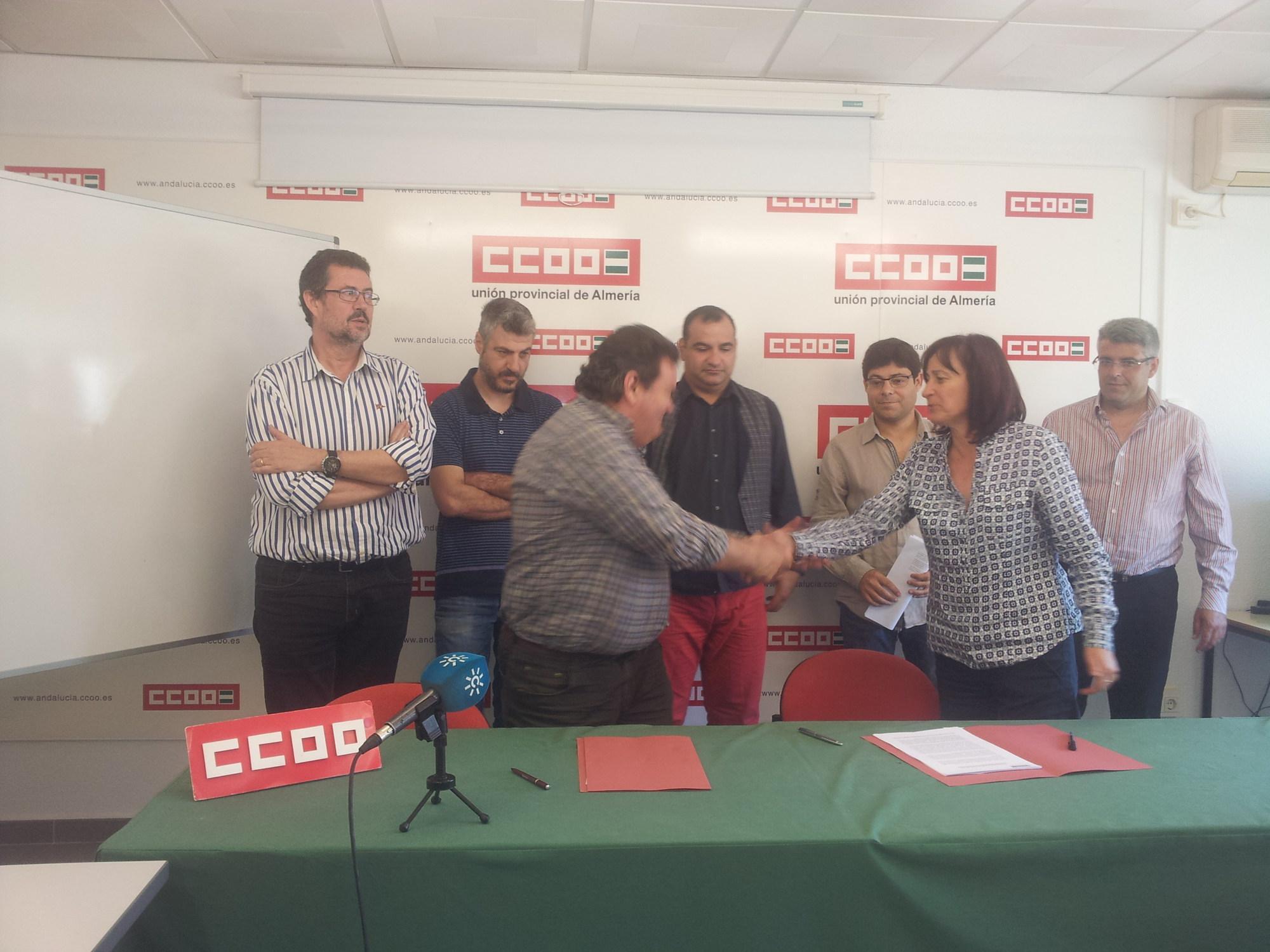 Izquierda Unida firma un pacto con CCOO por el municipalismo y un nuevo modelo local