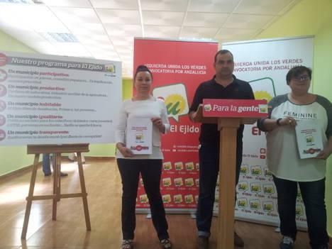 IU El Ejido presenta un programa con 680 propuestas para gobernar 'para la mayoría social'
