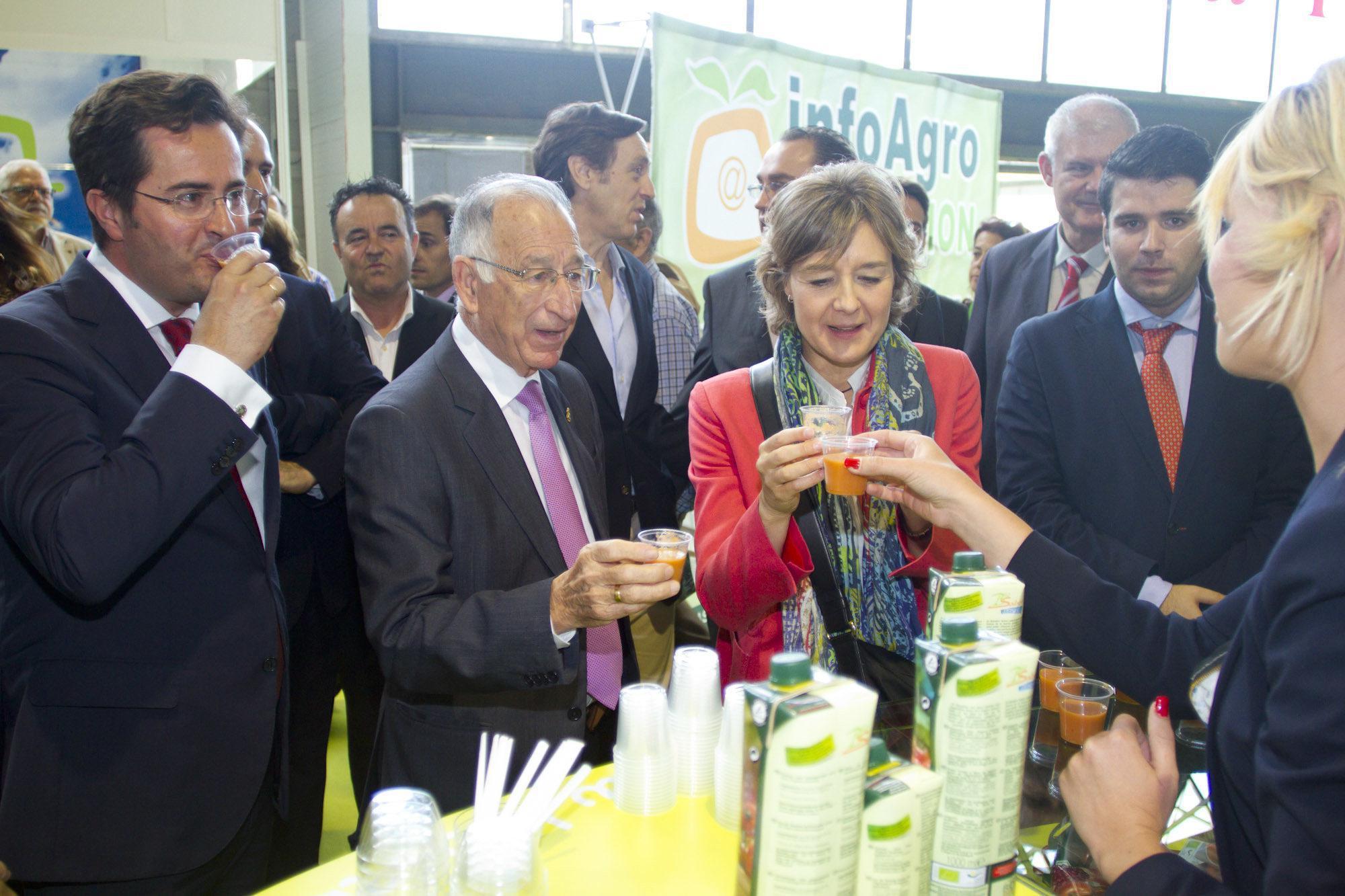 Tejerina y Amat apoyan a las pymes agroalimentarias en su visita a Infoagro Exhibition