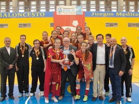 Entrega de trofeos del Campeonato de España de Selecciones Autonómicas de Fútbol Sala Femenino Sub-17