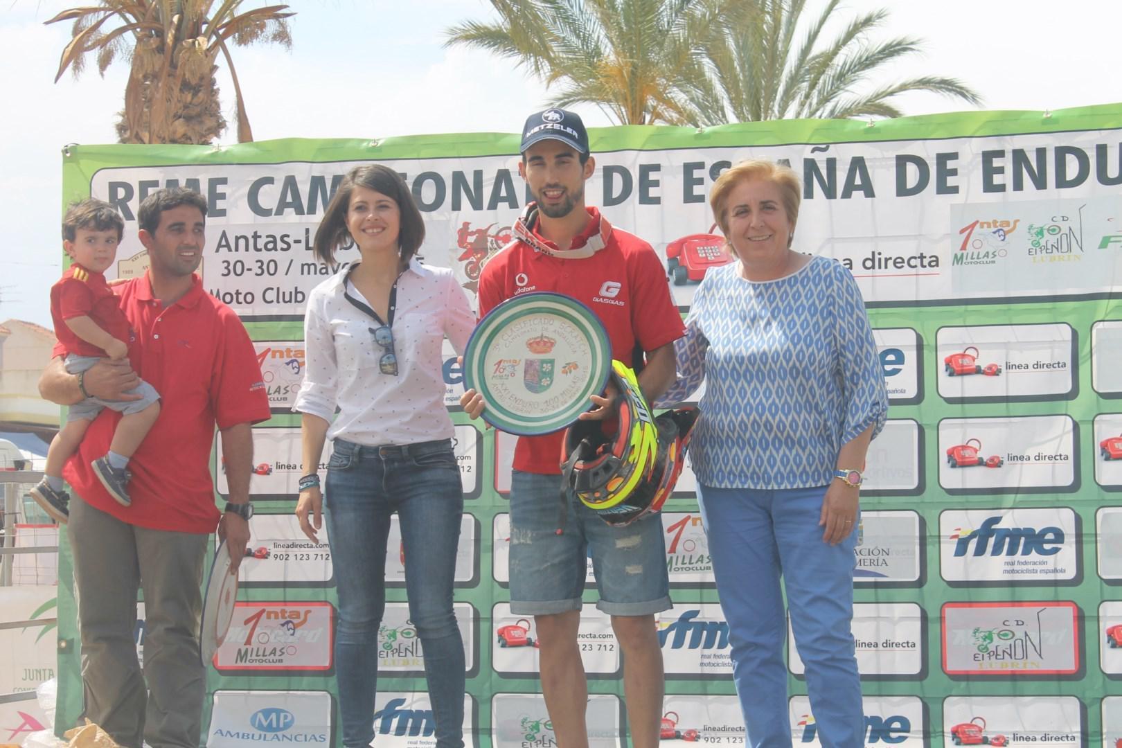 Diputación apoya el Campeonato de España de enduro, celebrado en Antas y Lubrín