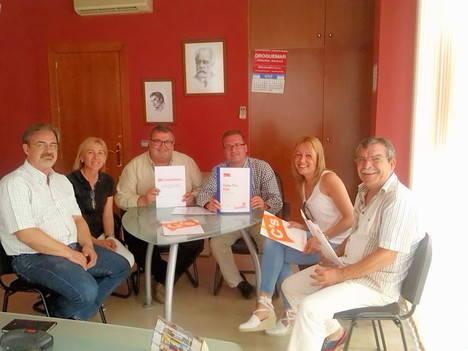 C´s Roquetas de Mar entrega el documento marco al PSOE tras hacerlo el viernes al PP