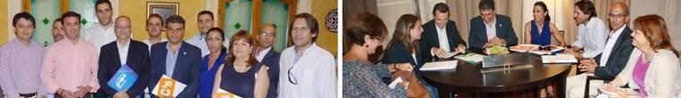 El PP y el PSOE ven próximo su pacto con Ciudadanos en la capital... que no aclara pareja