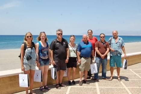 El 'presstrip' danés alcanza el ecuador de su gira por el destino 'Costa de Almería'