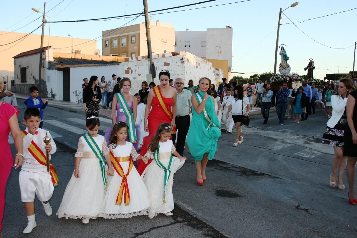 La procesión puso el broche final a las fiestas de Cortijos de Marín
