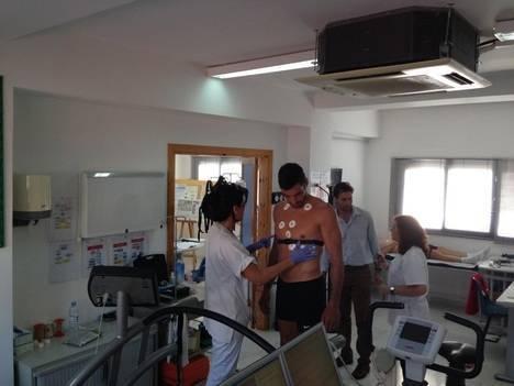 El Centro Andaluz de Medicina del Deporte en Almería realiza un reconocimiento a la UD Almería