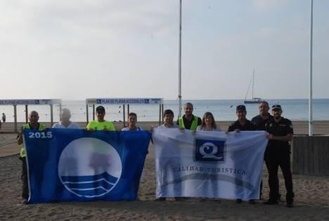 Aguamarga y San José renuevan la Q de Calidad en sus playas