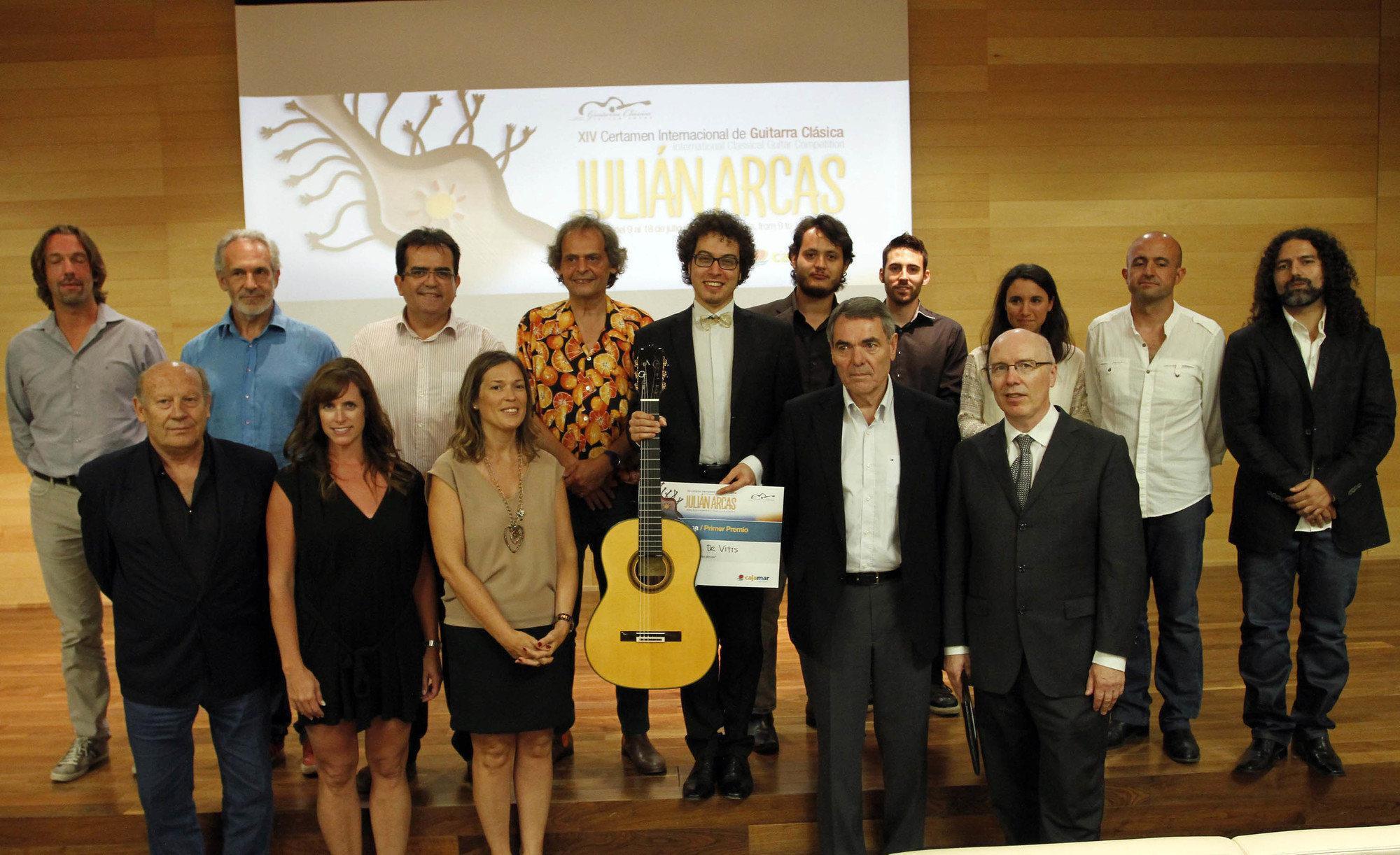 El XIV Certamen Internacional de Guitarra Clásica Julián Arcas proclama vencedor al italiano Andrea De Vitis