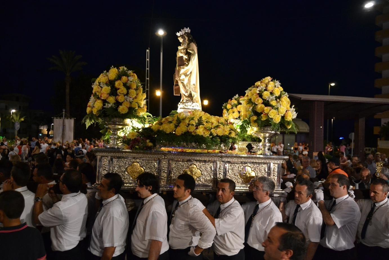 Las fiestas de Aguadulce se despidieron con la procesión de la Virgen del Carmen