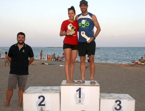 Germán Rodríguez y Laura Grima Kamphuis ganadores de la XXIV Travesía a Nado de Carboneras