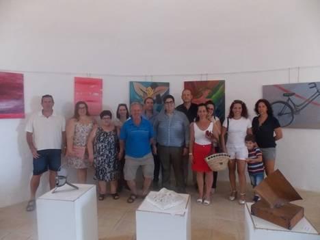 Inauguradas las exposiciones de los cuevanos Alonso Flores y Pedro Pérez