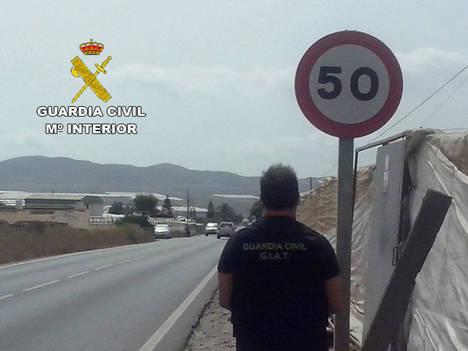 Pillado a 147 Km/h en un tramo de Níjar con límite a 50 Km/h