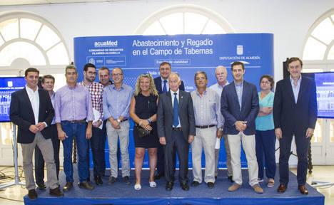 Los cinco alcaldes agradecen el impulso de Diputación al estudio de abastecimiento y regadío en el Campo de Tabernas