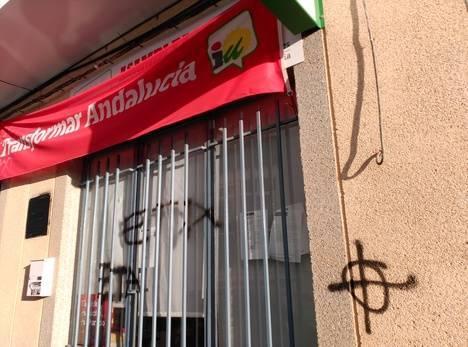 Vandalismo contra la sede de IU en Níjar