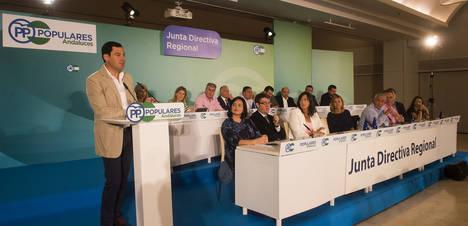 """Moreno exige """"luz y taquígrafos"""" en el pacto de PSOE y Ciudadanos"""