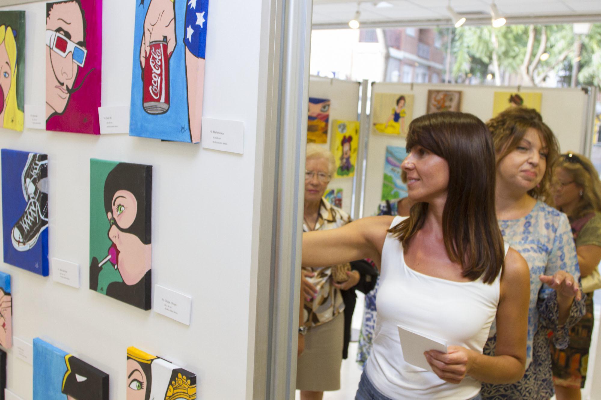 Mercedes Úbeda expone su colección de pintura en el Espacio de Mujeres de Diputación