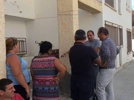 El Alcalde de Cuevas visita las obras del Barrio Virgen del Carmen