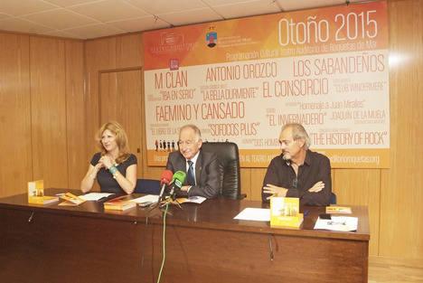 Antonio Orozco, MClan, Los Sabandeños y El Consorcio pasarán este otoño por el Teatro Auditorio de Roquetas