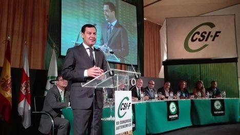 Moreno anuncia una Ley de la Función Pública andaluza avalada por un acuerdo global
