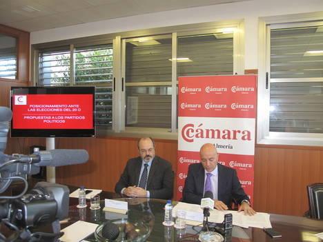 """Los empresarios ponen los """"deberes"""" a los partidos políticos de Almería ante las elecciones generales del 20D"""