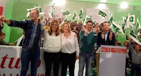 Sánchez Teruel acusa en Cuevas al ex alcalde de no haber hecho nada por la provincia desde el Congreso