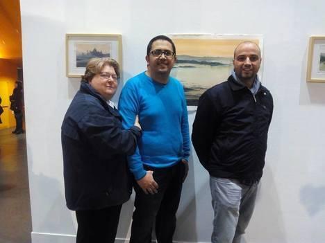 El artista local Juan Antonio Maldonado muestra en el teatro de Vícar sus 'Primeros Trazos'