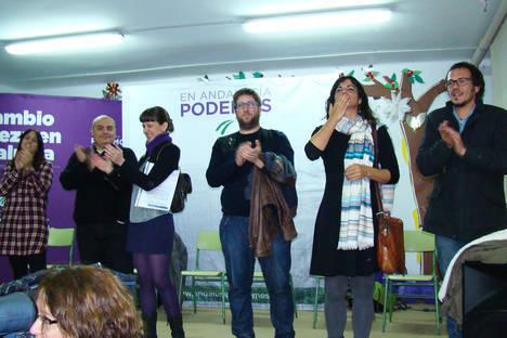 """Podemos celebra un acto en Almería sin el candidato sevillano y con Miguel Urbán, Teresa Rodríguez y """"Kichi"""""""