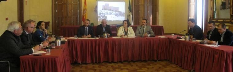Constituida la comisión de seguimiento para ejecutar el convenio de reconstrucción del Patio del Castillo de Vélez Blanco