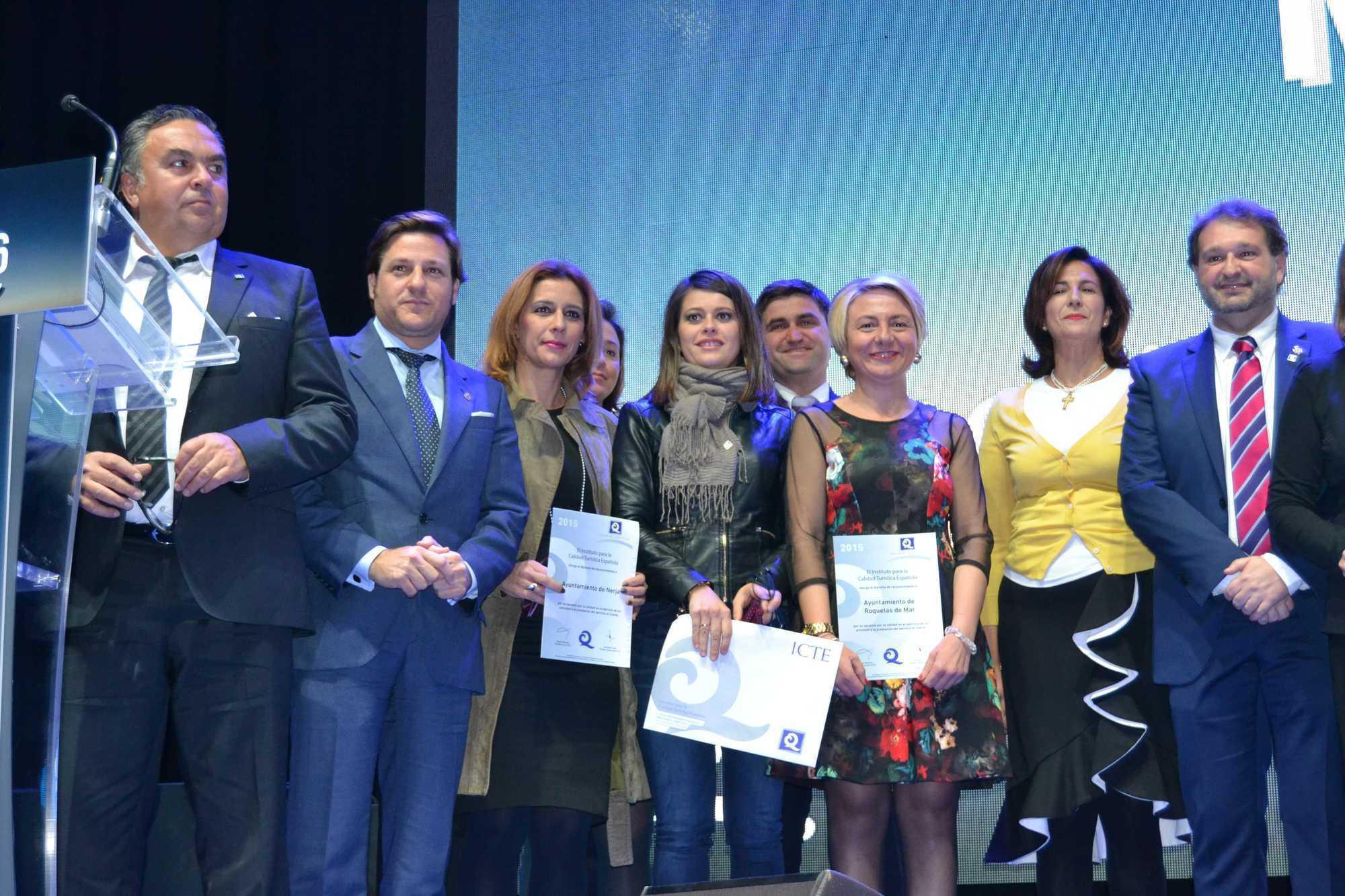 El Ayuntamiento de Roquetas de Mar recoge en Madrid seis certificaciones Q de Calidad Turística