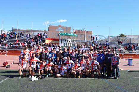 El alcalde asiste a la victoria de Unión Rugby Almería por 18-11 contra Pozuelo