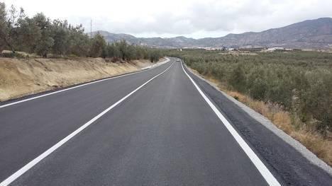 Diputación invierte 150.000 euros en mejorar la carretera de acceso a Urrácal desde la REDIA