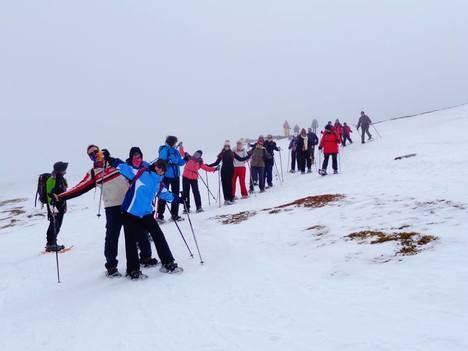 Diputación organiza una jornada de raquetas de nieve en Sierra Nevada