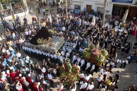 La procesión del resucitado, broche de oro a las celebraciones de Semana Santa