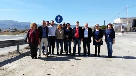 El PSOE exige la construcción inmediata de las dos rotondas de Los Gallardos comprometidas en los PGE