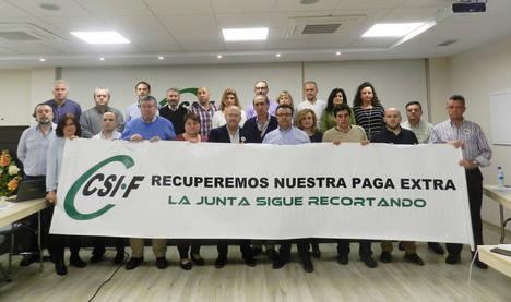 CSIF Almería convoca movilizaciones para exigir a la Junta el abono de la extra de 2012