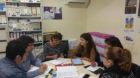 El grupo municipal de IU del Ayuntamiento de Níjar recibe a la Diputada y a la Coordinadora Provincial de IU