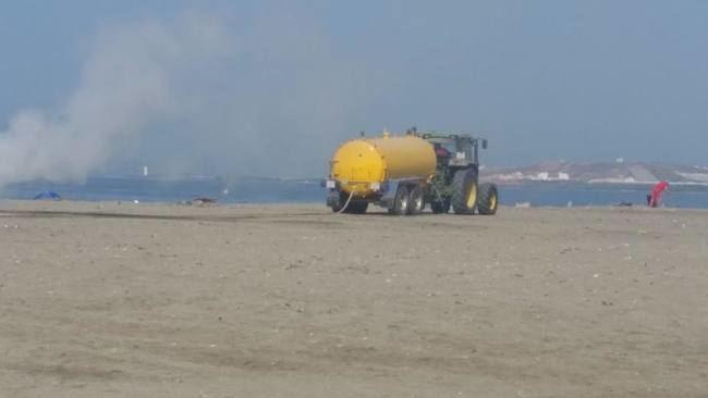 Las playas de El Ejido recobraron la normalidad tras San Juan con rapidez