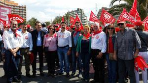S�nchez Teruel pide a los trabajadores que ejerzan su fuerza y saquen del gobierno al �culpable� de su p�rdida de derechos