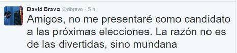 David Bravo no repetirá en las listas de Podemos al Congreso