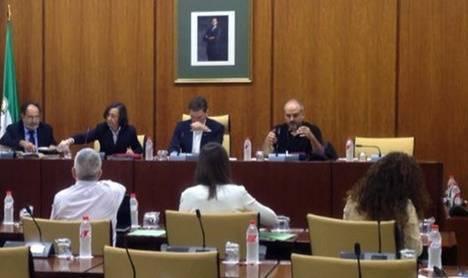 Sánchez Teruel abre campaña electoral en el Parlamento aprovechando una PNL sobre el cine en Almería para criticar a Podemos por su candidato y al PP por la Alta Velocidad