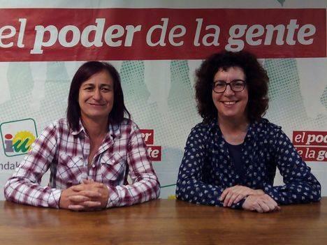 Sonia Barreiro y Teresa Novo, candidatas de IU por Almería en la candidatura de Unidos Podemos