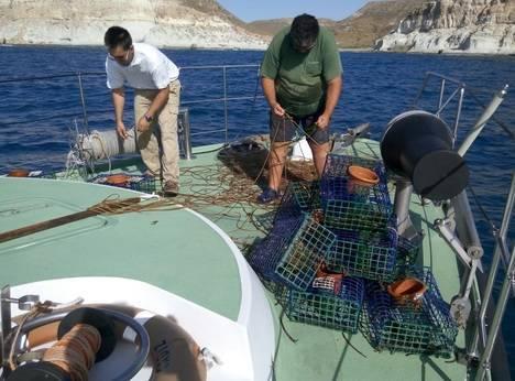 Agentes de Medio Ambiente decomisaron artes de pesca prohibidas en el Parque Natural Cabo de Gata-Níjar