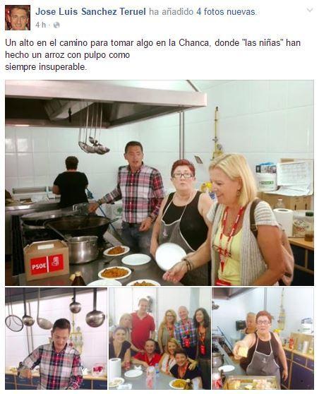 PSOE niega que ellos hayan organizado el arroz con pulpo en el colegio electoral de La Chanca en el que han participado