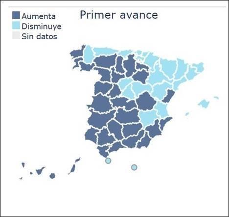 La participación en la provincia crece casi dos puntos hasta el mediodía respecto al 20D